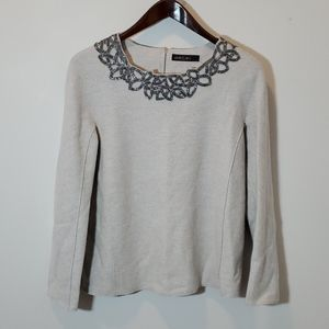 Marccain Sweater Wool Pullover Irradecent Bead